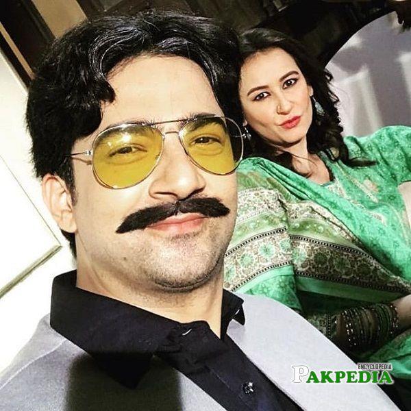 Arjumand Rahim on sets of Suno Chanda 2