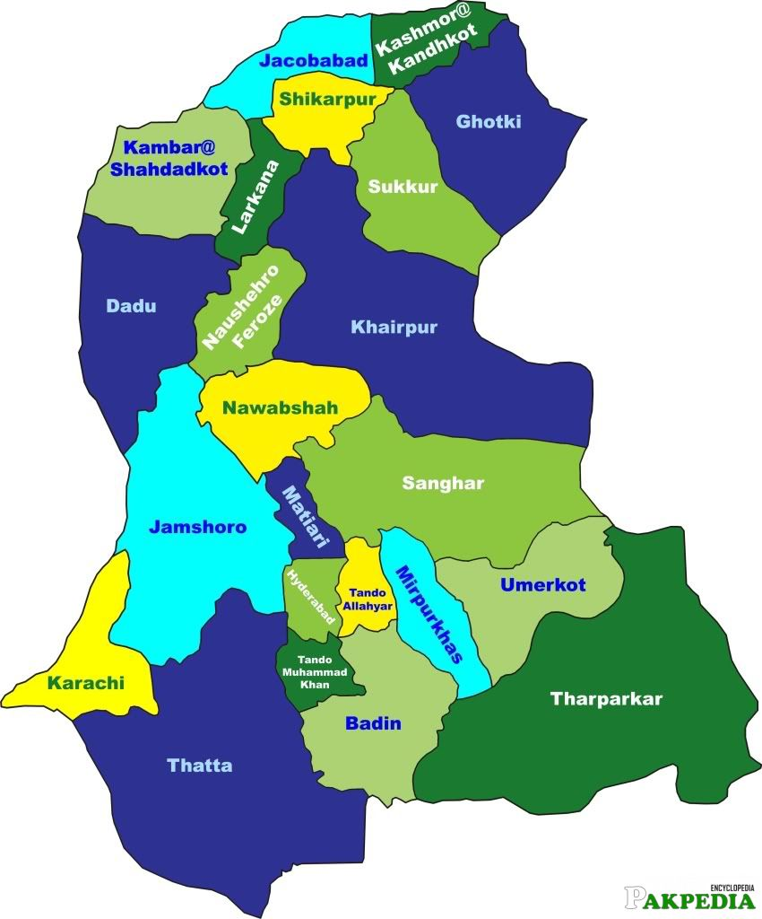 Goverment of Sindh Map