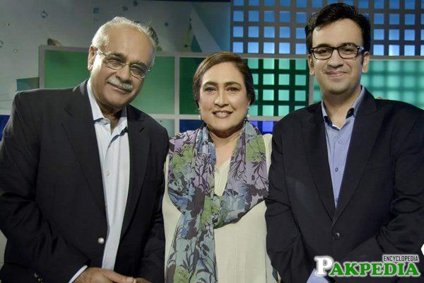 With wife and Mohsin