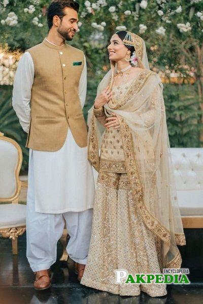 Zainab with her husband Hamza Kardar