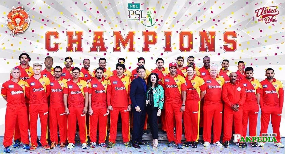 First Season Winner Team - 2016