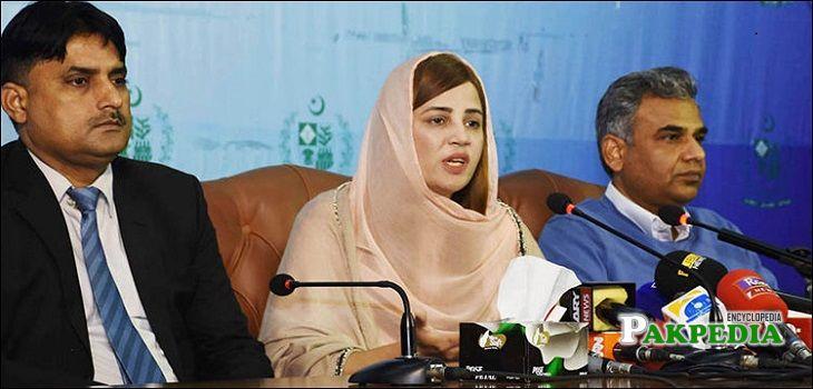 Zartaj gul during the press Conference