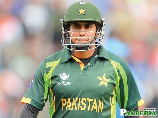 Nasir Jamshed After Batting