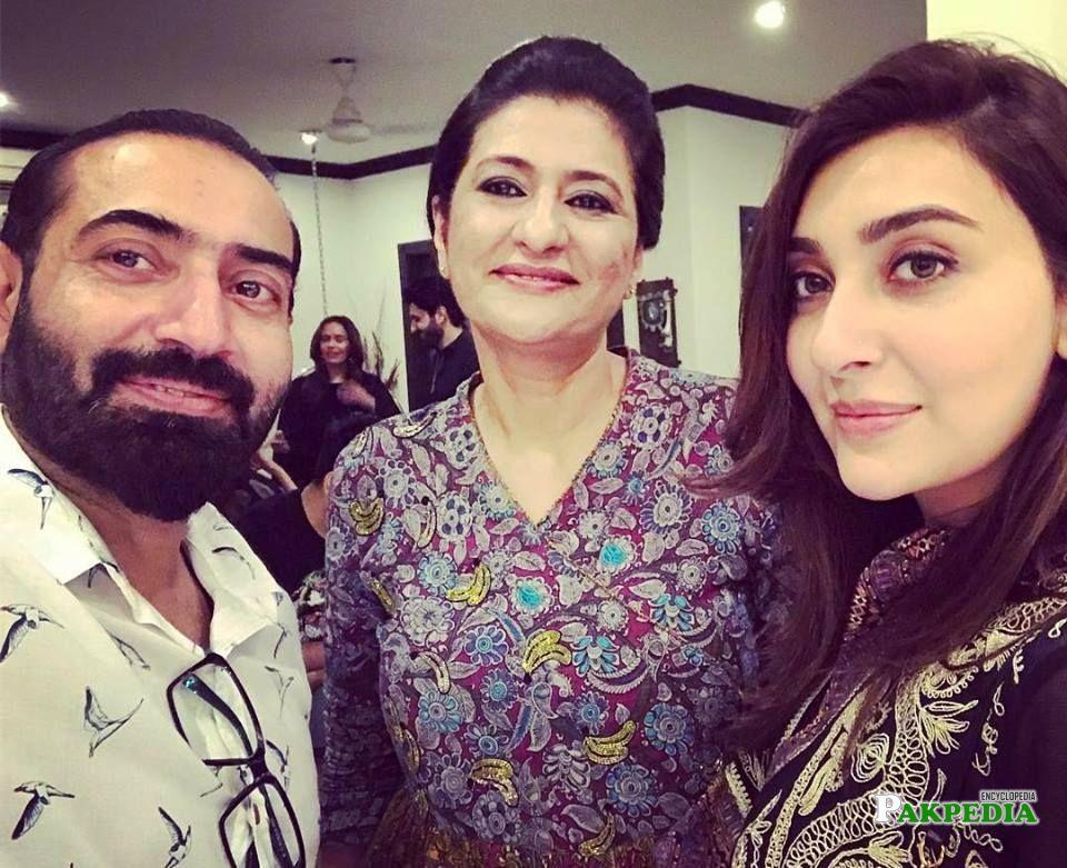 Saba Hameed with Ayesha Khan and Nadeem Baig