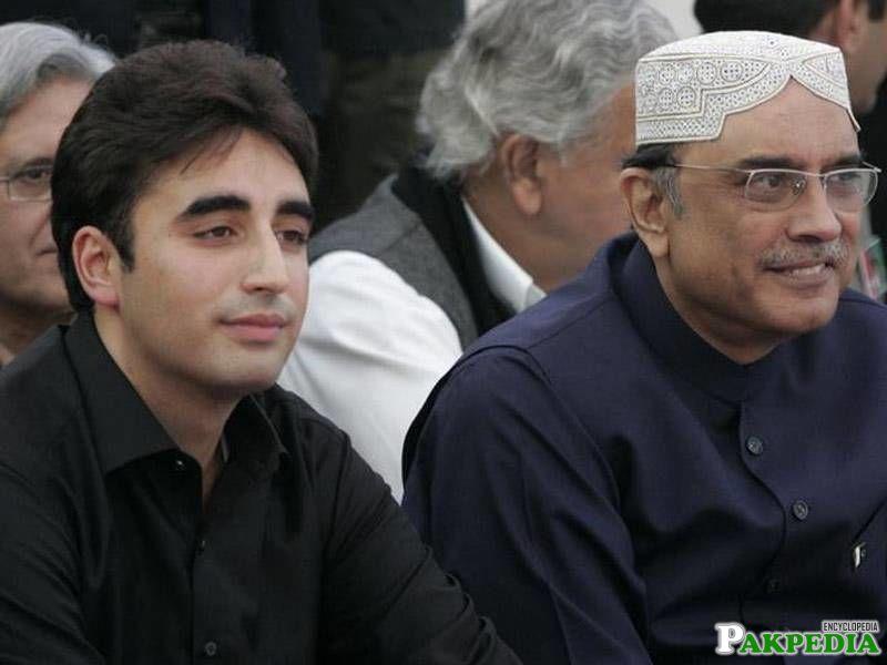 Bilawal Bhutto Zardari with father Asif Ali Zardari
