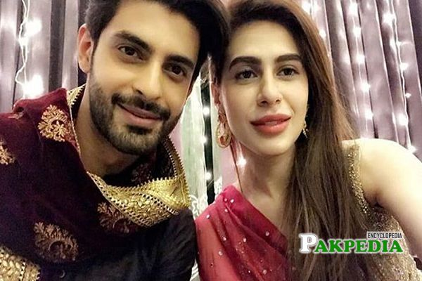 Saad Qureshi with his wife