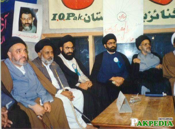 Allama arif hussain in a meeting