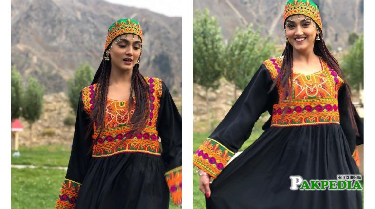 Kiran Tabeer during her shooting for a drama