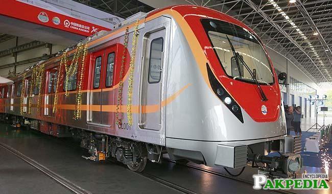 First Orange Line Metro Train to Reach Pakistan in July