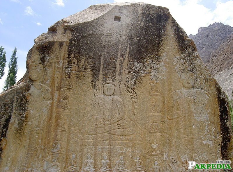 Manthal Buddha Rock in outskirts of Skardu city