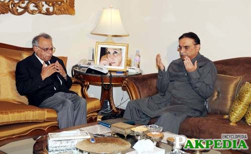 Wasim Sajjad with Asif Zardari