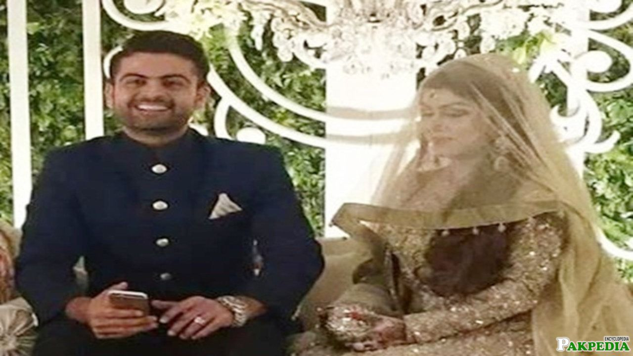 Ahmed Shehzad with wife