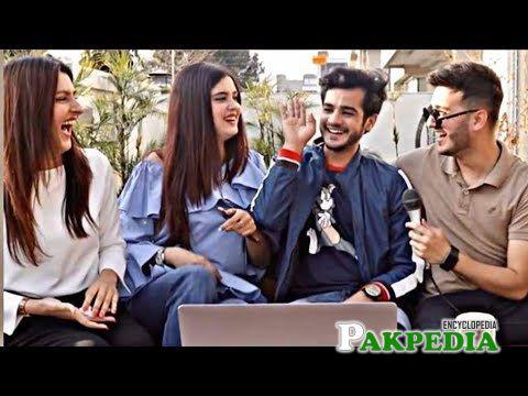 Kanwal with Zulqarnain and Shahveer Jaffry