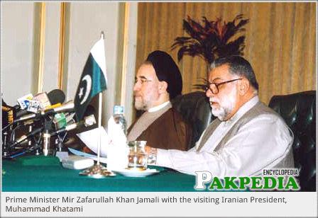 With President Mohammad Khatami