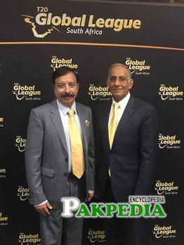 With CEO of cricket South Africa Haroon Lorgat