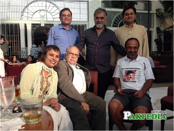 At the APPNA convention Standing Raza Rumi, Hasan Mujtaba, Dr Taqi Sitting Amna Buttar