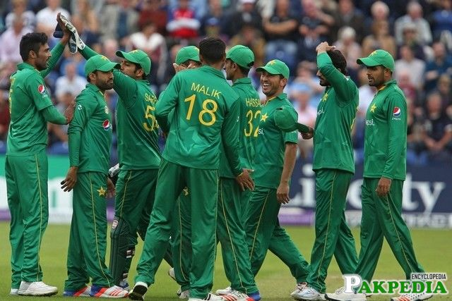 Hasan Ali With Pak team
