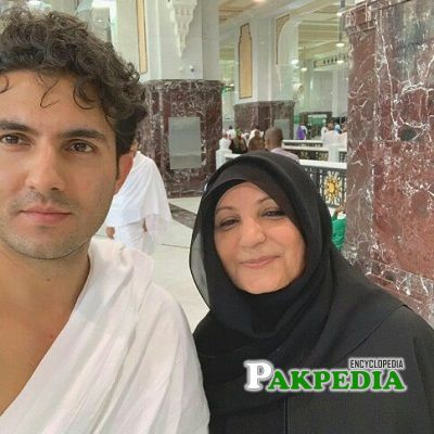 Shehroz with his mother