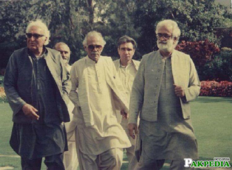 With Akbar Bughti, Abdul Wali Khan