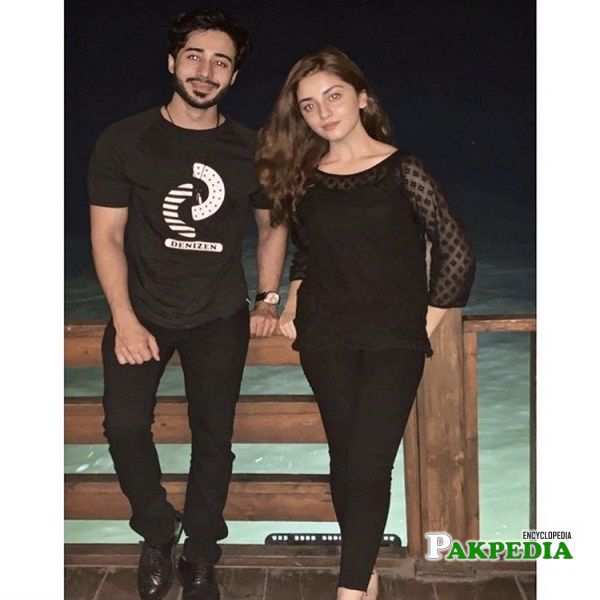 Noaman with Alizey Shah