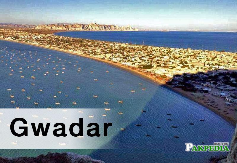 Top view of Gawadar beach