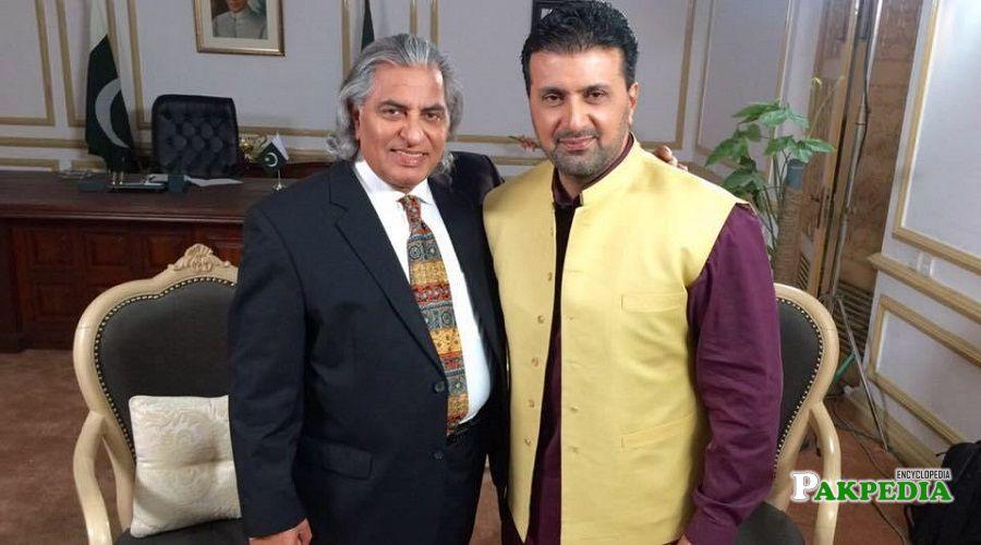 Asad Malik with Usman peerzada