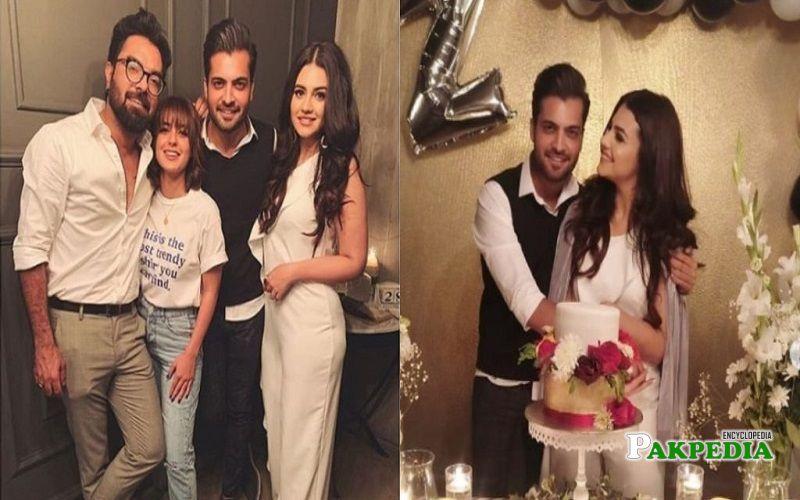 Zara Noor Abbas at her birthday party