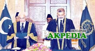 While taking oath