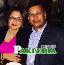With wife Farahnaz isfahani