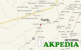 Map of Nushki city