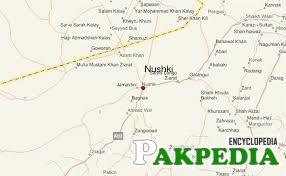 Map of Nushki city