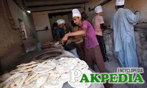 Cooking area of Saylani Welfare Trust