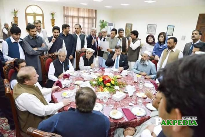 With Nawaz Sharif and others