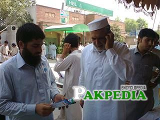 Sahibzada Tariq Ullah with youth