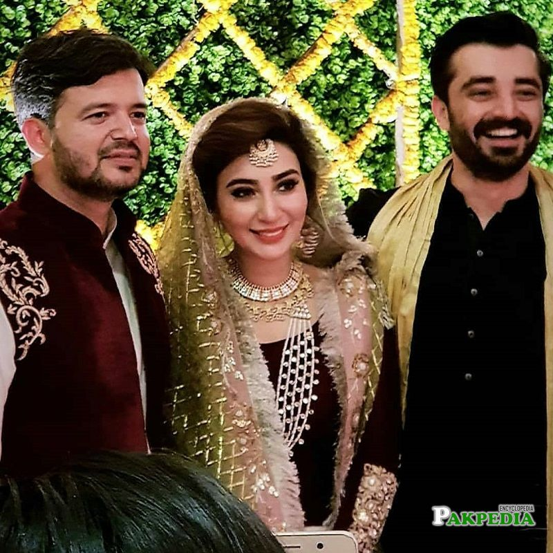 Hamza Ali at the wedding of Ayesha khan