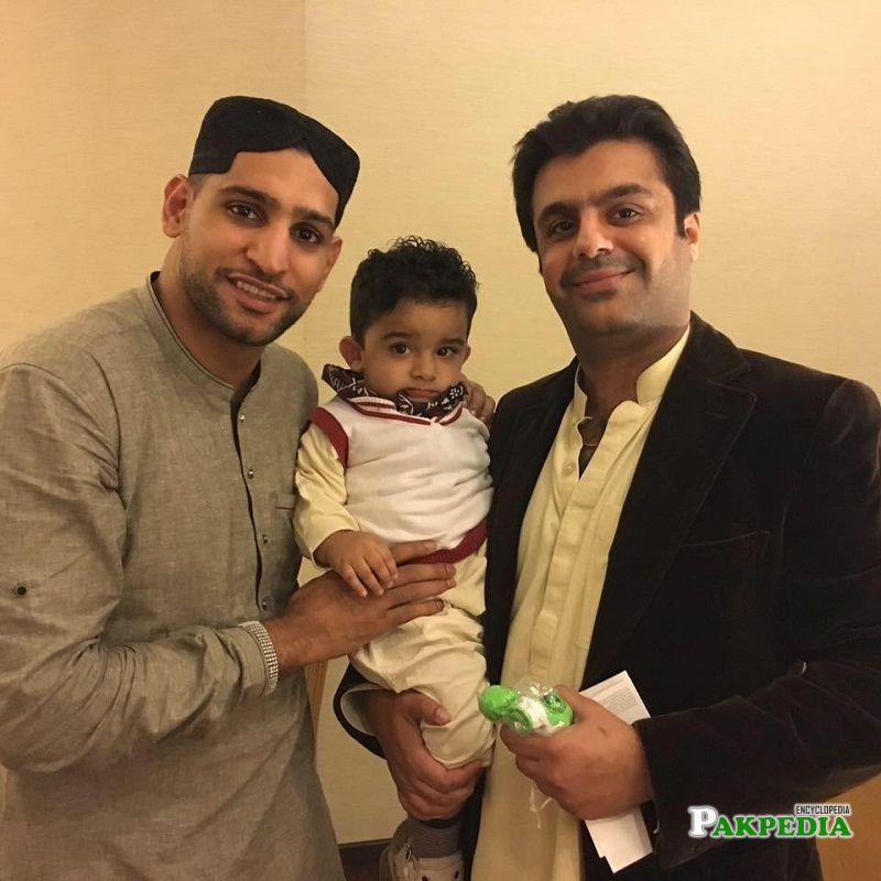 Zulfiqar Bachani with Amir Khan boxer