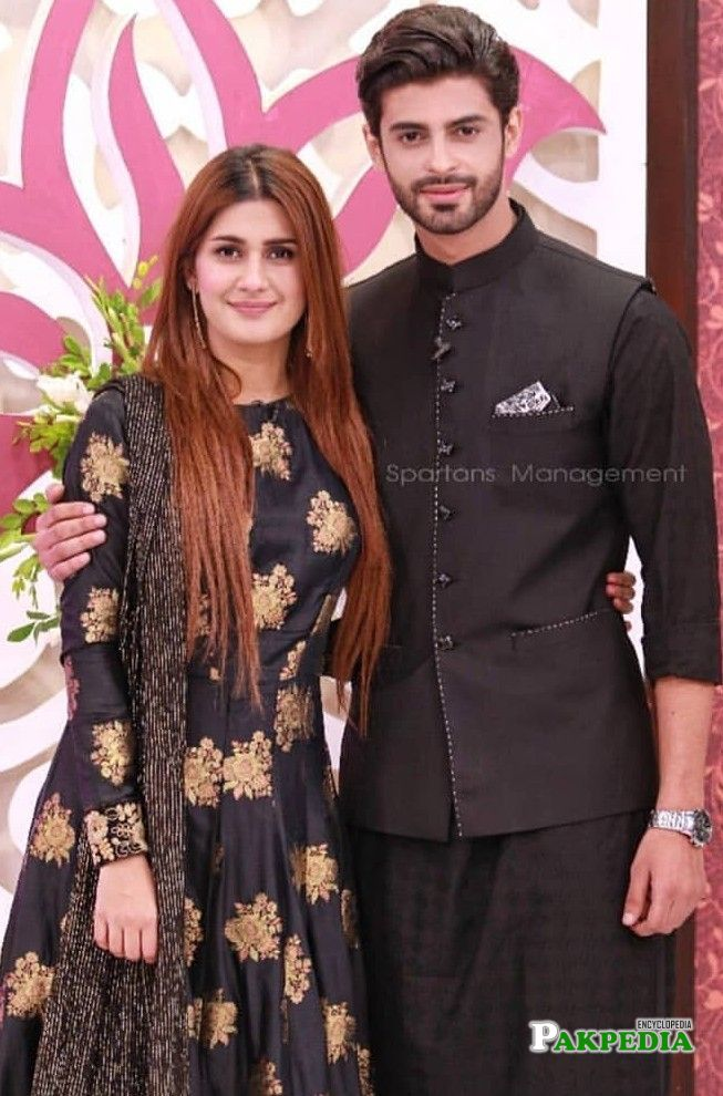 Saad Qureshi with Kubra Khan in a morning show