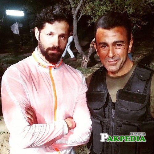 Naeem Haque with Shan Shahid on shoot
