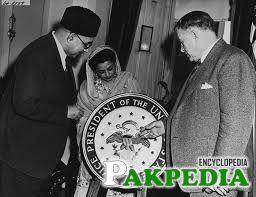 Liaquat Ali Khan meets US President Harry S. Truman.