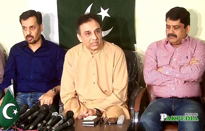 Mustafa Kamal,Raza Haroon and Anees Qaim Khani