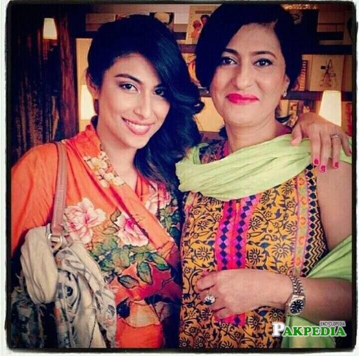 Saba Hameed with her daughter Meesha Shafi
