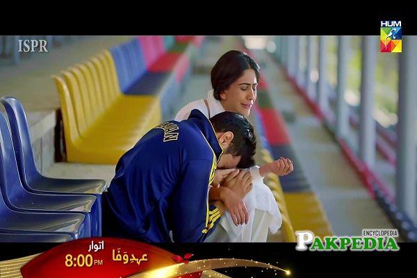 Naeema Butt on sets of Ehd e Wafa