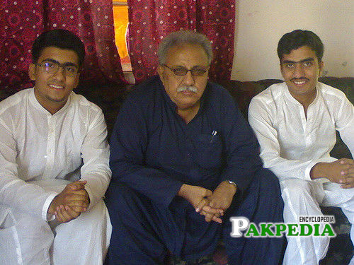 With his sons