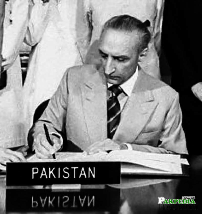 As a Ambassador of Pakistan in USA