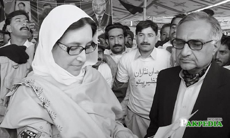 With Benazir bhutto