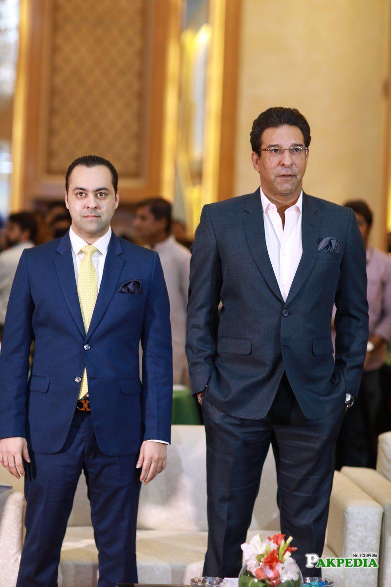 With Waseem Akhtar
