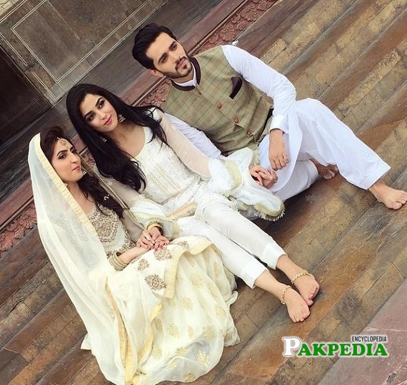 Wahaj Ali with his best friend Maya Ali at his Nikkah