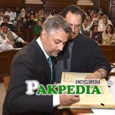 Farooq tarar while taking charge as MPA