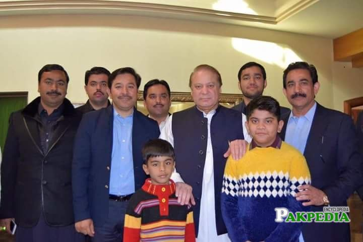 Afzal Khokhar with Nawaz Sharif