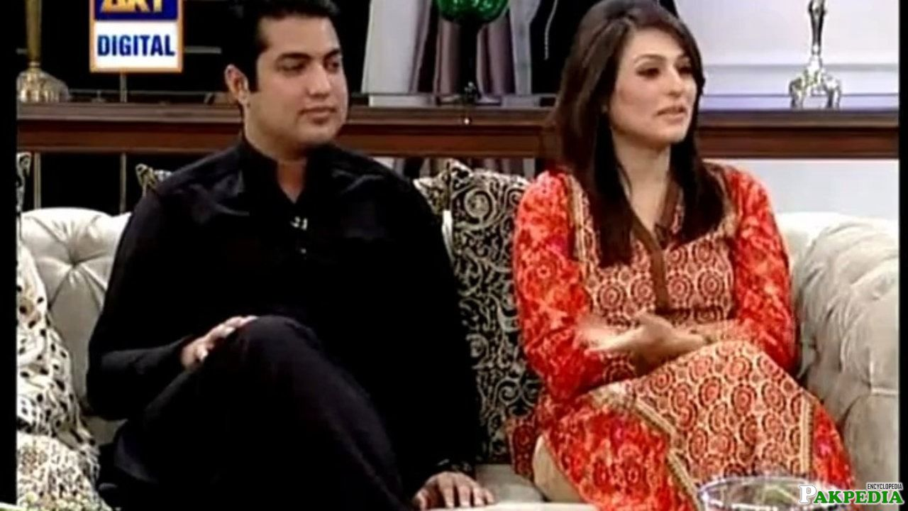 With His Wife In a Morning Show